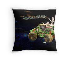 Monster Car  Throw Pillow