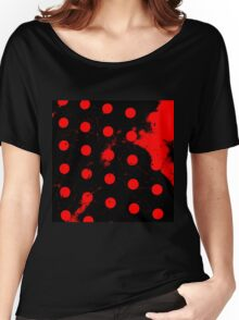 abstract polka dots red Women's Relaxed Fit T-Shirt