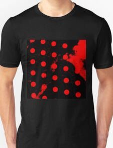 abstract polka dots red Unisex T-Shirt