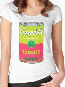 Campbell's Soup Andy Warhol Women's Fitted Scoop T-Shirt