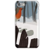 Winter Robin iPhone Case/Skin