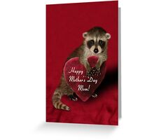 Mother's Day Raccoon Greeting Card