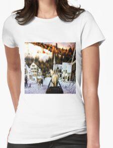 Winter In Summerville Womens Fitted T-Shirt