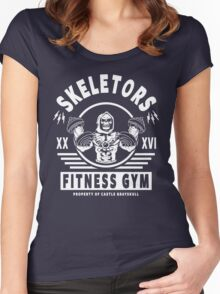 Skeletors Fitness Gym Women's Fitted Scoop T-Shirt