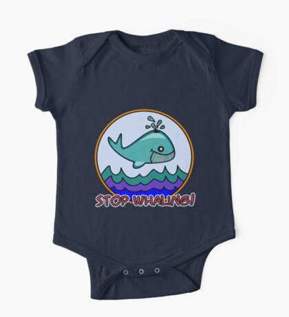 Stop whaling! Kids Clothes