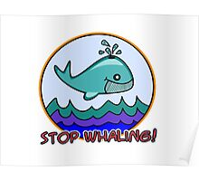 Stop whaling! Poster
