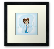 Cute Anime girl, doctor  Framed Print