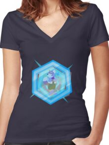 Fox Shines On Women's Fitted V-Neck T-Shirt