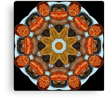 Full English Kaleidoscope Canvas Print