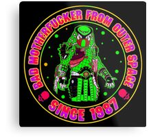 Bad Mofo from Outer Space Colour Metal Print