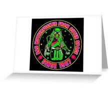 Bad Mofo from Outer Space Colour Greeting Card