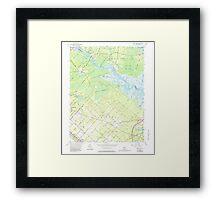 USGS TOPO Map New Jersey NJ Green Bank 254428 1956 24000 Framed Print