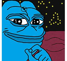 EXTREMELY RARE SPACE MAN PEPE (DR MANHATTAN?)  Photographic Print