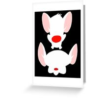 Pinky and the Brain Greeting Card
