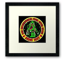 Bad Mofo from Outer Space Colour 2 Framed Print