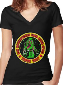 Bad Mofo from Outer Space Colour 2 Women's Fitted V-Neck T-Shirt