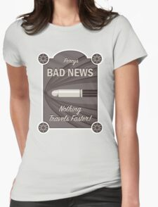 Percy's Bad News - Nothing Travels Faster! Womens Fitted T-Shirt
