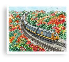 Train Illustration Canvas Print