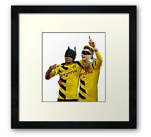 Pierre Emerick Aubameyang and Marco Reus Framed Print