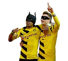 Pierre Emerick Aubameyang and Marco Reus Photographic Print