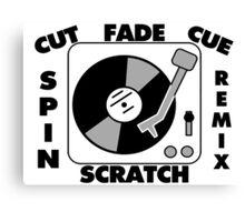 Turntable Record DJ Speak Canvas Print