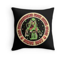 Bad Mofo from Outer Space Vintage Throw Pillow