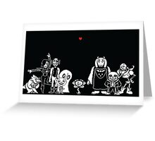 Undertale - Character Chart Greeting Card