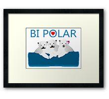 Bi Polar Bears Framed Print