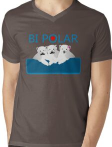Bi Polar Bears Mens V-Neck T-Shirt