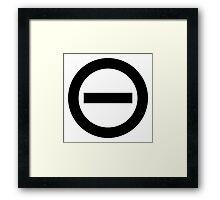 Type O Negative Logo Framed Print