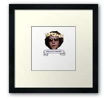 """Hyde says """"play more zeppelin"""" Framed Print"""