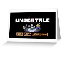 Undertale - Action Buttons Greeting Card
