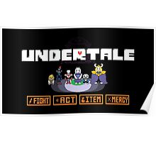 Undertale - Action Buttons Poster