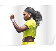 Digital Painting of Serena Williams Poster
