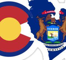 Love - Colorado/Michigan Sticker