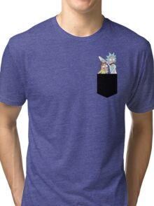 Rick and Morty Pocket Tees Tri-blend T-Shirt