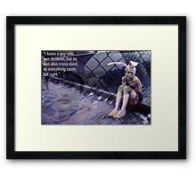 Bunny Head Framed Print