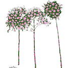 Standard Flower Trees 1 by Emily Bieman