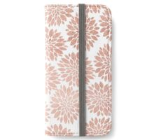 Modern rose gold geometric floral abstract iPhone Wallet/Case/Skin
