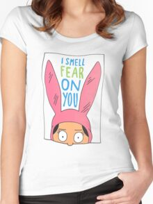 Top Seller - Louise Belcher: I Smell Fear on You (animated print) Women's Fitted Scoop T-Shirt