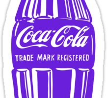 Purple Coca Cola Sticker