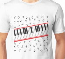 Piano Keys (light colors only) Unisex T-Shirt