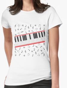 Piano Keys (light colors only) Womens Fitted T-Shirt