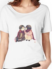 attack on titan misaka and eren cute together Women's Relaxed Fit T-Shirt