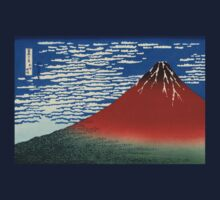 Japanese Print:  Red Fuji on a Clear Day Baby Tee