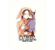 baby sitter levi and erin from attack on titan  Art Print