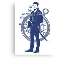 """""""I'd Go to the End of the World for Her"""" Captain Hook Design Canvas Print"""