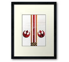 Red 5 standing by... Framed Print