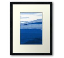 Abstract landscape in blue Framed Print