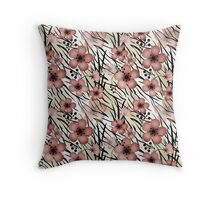 Seamless floral patterns backgrounds  Throw Pillow